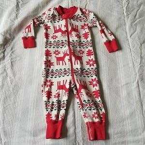 Hanna Andersson Christmas Pajama Onesie 6-12 mo